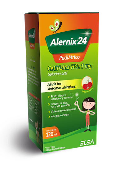 Alernix 24 Pediátrico. El antialérgico para los más chicos.