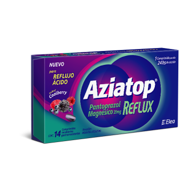 Aziatop Reflux. El 1° Pantoprazol Magnésico de Venta Libre.